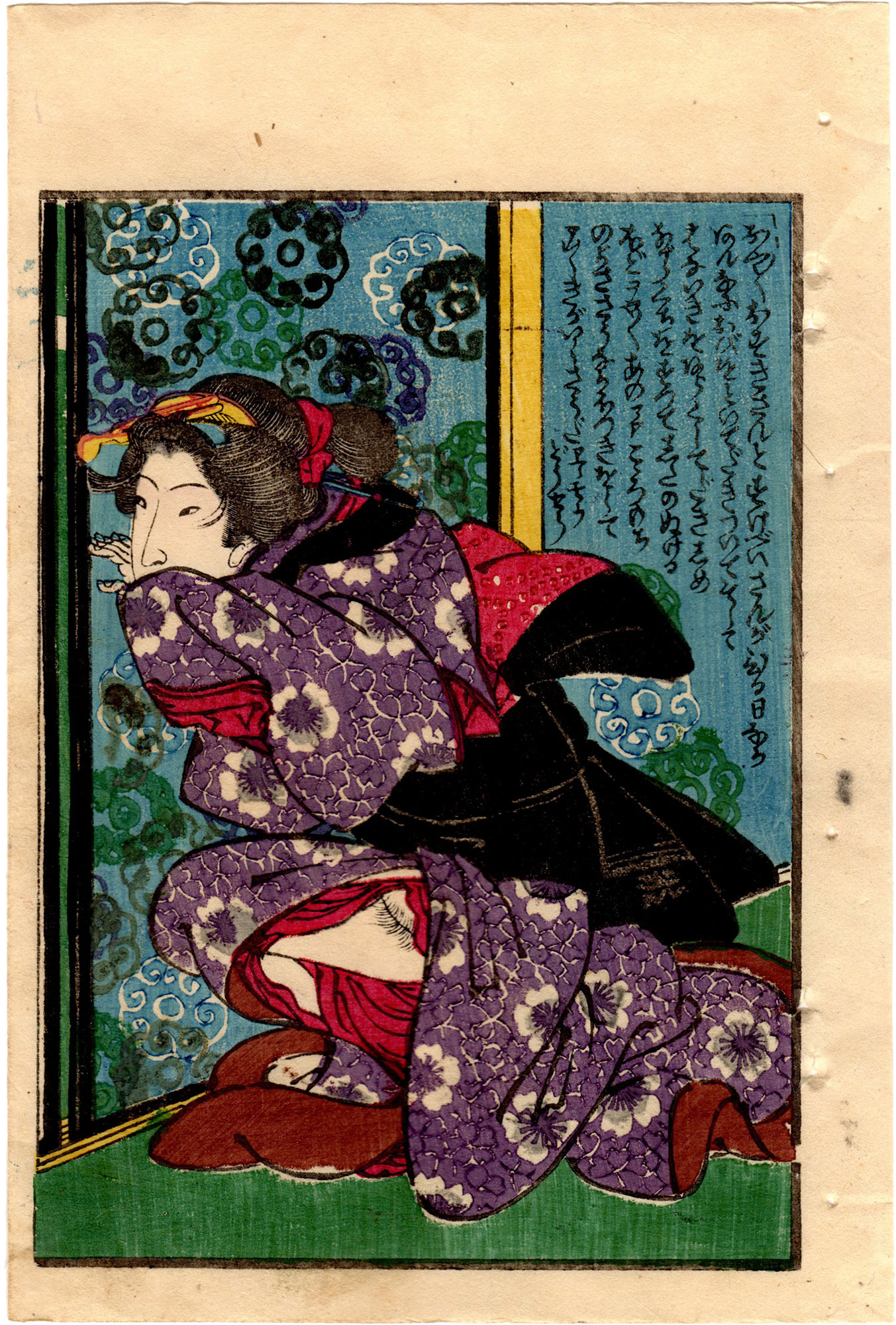 SCENERY OF SPRING: DOUBLE CHERRY BLOSSOMS 01 (Utagawa Hiroshige)