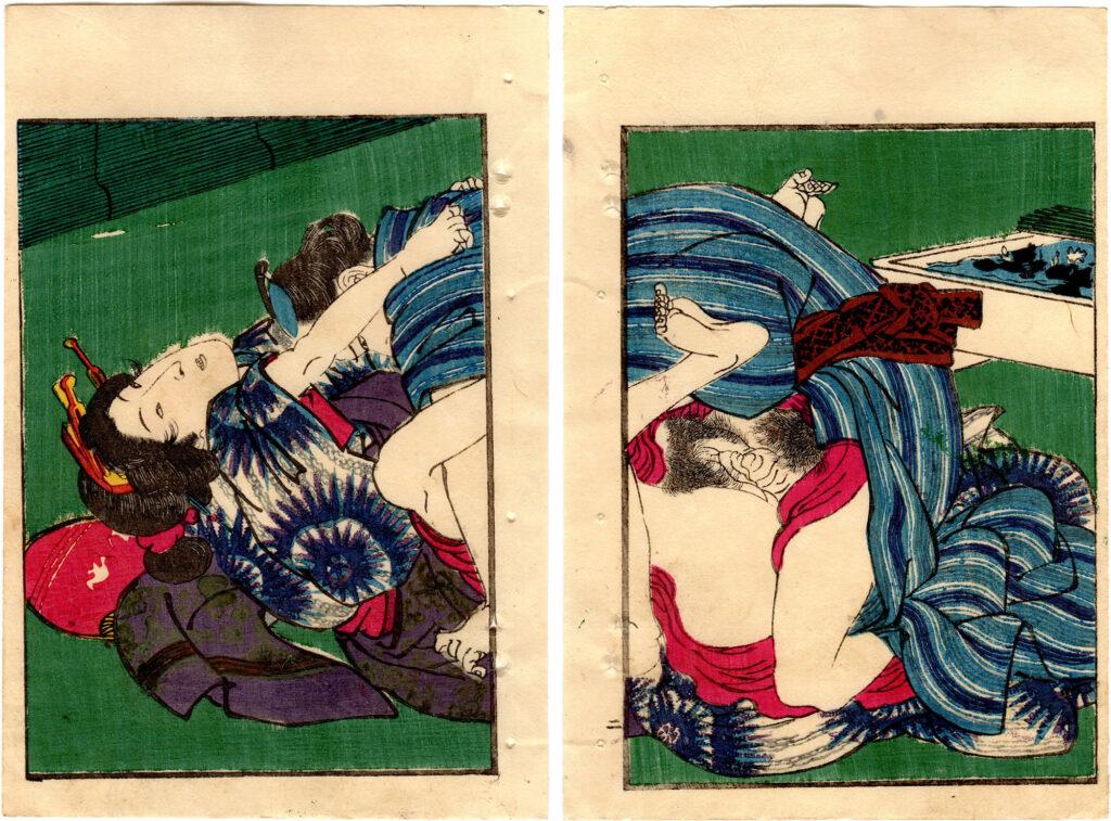 SCENERY OF SPRING: DOUBLE CHERRY BLOSSOMS 03 (Utagawa Hiroshige)