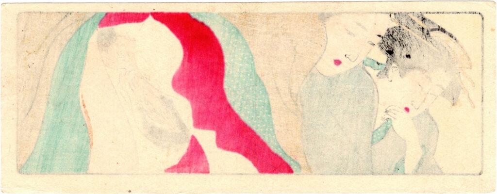 SCROLL FOR THE SLEEVE 05 (Torii Kiyonaga)