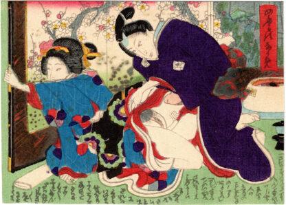 VIEWS OF THE FOUR SEASONS: DECEMBER (Utagawa School)