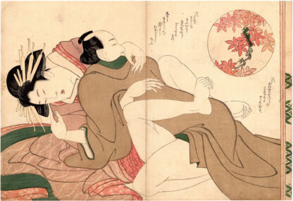 WOMAN OF PLEASURE AND LOVER (Yanagawa Shigenobu)