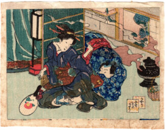 THE FALSE TALE OF ISE: MOSQUITO INCENSE (Utagawa School)
