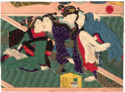 TWO COUPLES OF LOVERS (Utagawa Kunisada)