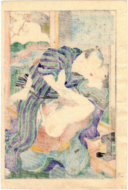 EROTIC MATCHES: A MIRROR OF FLOWERS 09 (Utagawa Yoshikazu)