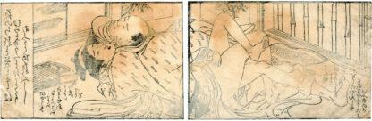 THE TREASURE SHIP OF PEACEFUL COUPLES LYING DOWN: KOTO PLAYER (Kitao Masanobu)