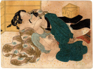 AN OLDER WOMAN DATING A YOUNGER MAN (Utagawa School)