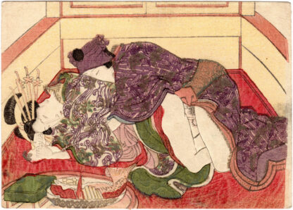 COURTESAN WITH A YOUNG ACTOR (Keisai Eisen)