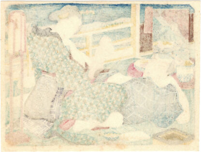 EVENING ERECTION (Utagawa School)