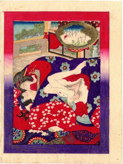 FLOWERS AND MOON GENJI: THE WIND IN THE PINES (Koikawa Shozan)