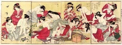 TSUKUSHI GOTO: SHIGEUJI ENJOYING THIRTEEN BEAUTIFUL WOMEN (Keisai Eisen)