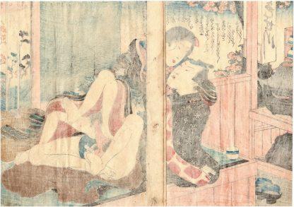 SPRING RAIN DIARY: LOVERS IN A TEA HOUSE (Koikawa Shozan)
