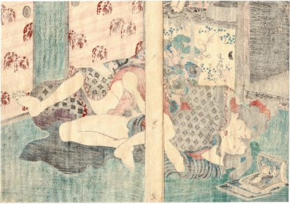 SPRING RAIN DIARY: AFTER READING SHUNGA BOOKS (Koikawa Shozan)