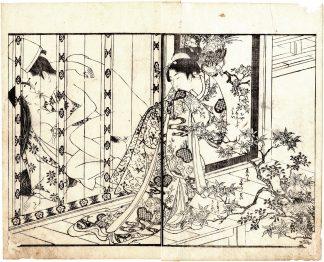 NOBLE COUPLE AND YOUNG VOYEUR (Kitagawa Utamaro)