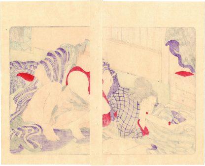 FASHIONABLE TEXTILE PATTERNS: NEEDLEWORK (Utagawa Kuniyoshi)
