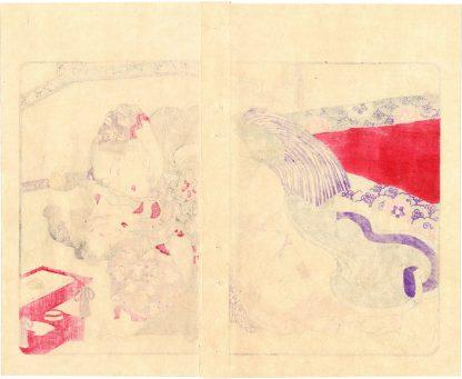 FASHIONABLE TEXTILE PATTERNS: SAMURAI AND BEAUTY (Utagawa Kuniyoshi)