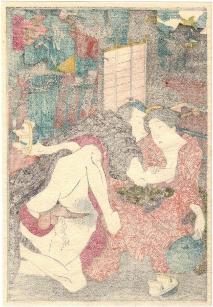 A COOL BREEZE AT YANAKA (Utagawa Kunimori II)