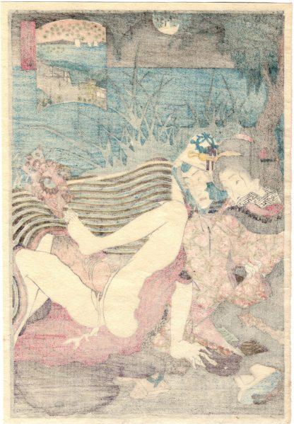 FULL MOON ON TAKANAWA NIGHT (Utagawa Kunimori II)