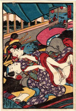 SHINAGAWA ON THE NIGHT OF THE TWENTY-SIXTH (Utagawa Kunimori II)