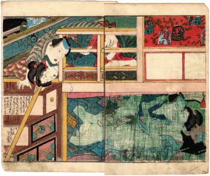 A MIRROR OF LUSTFUL FLOWERS: VOYEURS AND MOSQUITO NET (Koikawa Shozan)