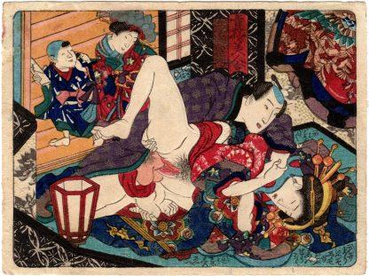 COMPARISONS OF BEAUTIES OF THE PLEASURE QUARTERS: THE SANOZUCHI HOUSE (Utagawa School)