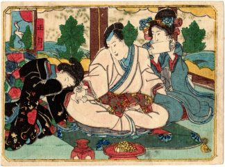 THE TWELVE MONTHS: JANUARY (Utagawa School)