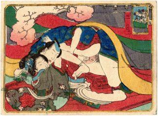 THE TWELVE MONTHS: MARCH (Utagawa School)