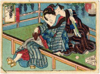 THE TWELVE MONTHS: APRIL (Utagawa School)