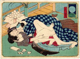 THE TWELVE MONTHS: AUGUST (Utagawa School)